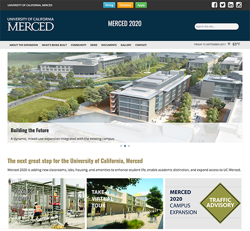 UC Merced website graphic