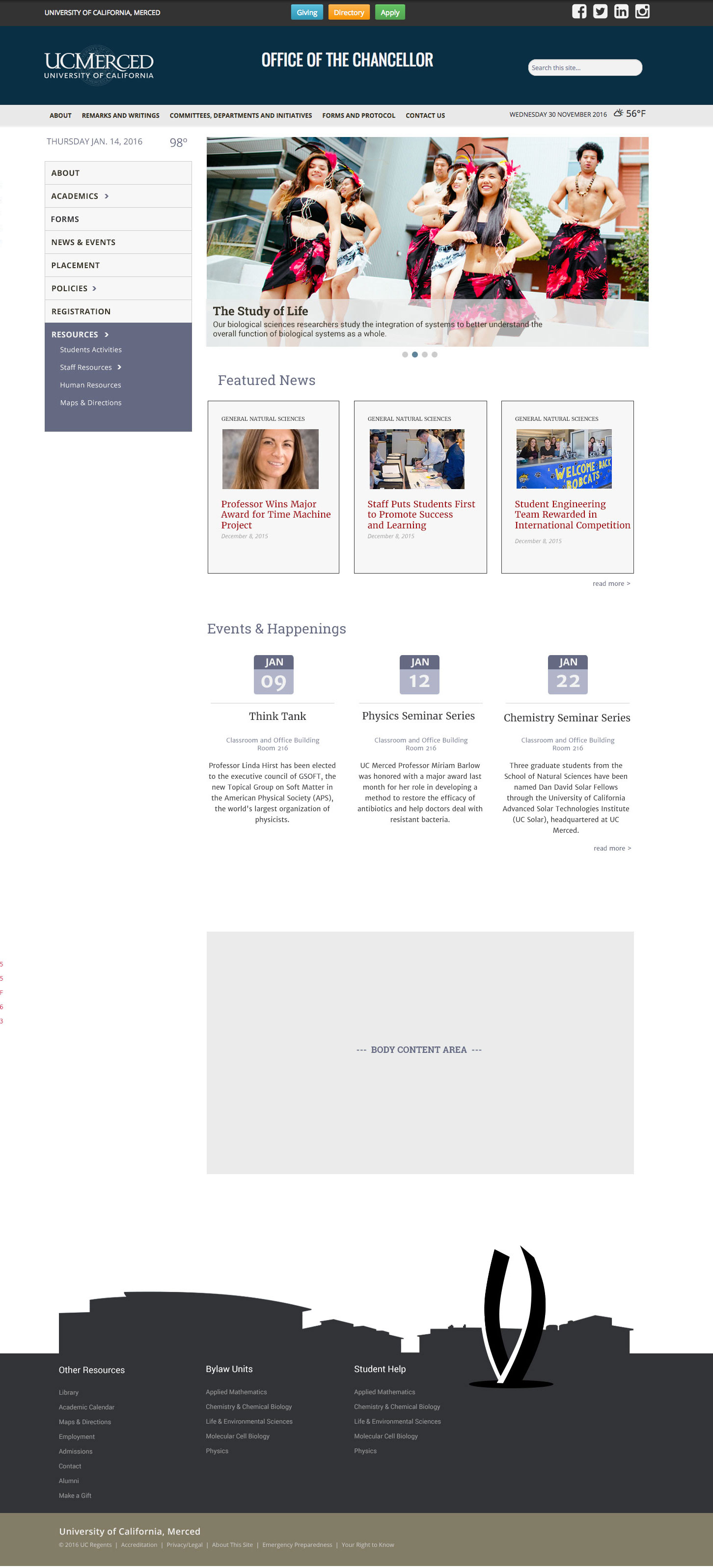 UC Merced Responsive - Side Navigation